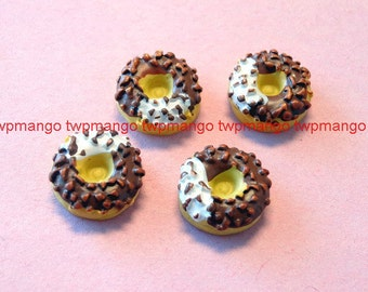 Lot of 20 Resin Chocolate Donut Cabochon...Button...Flat Back...N75