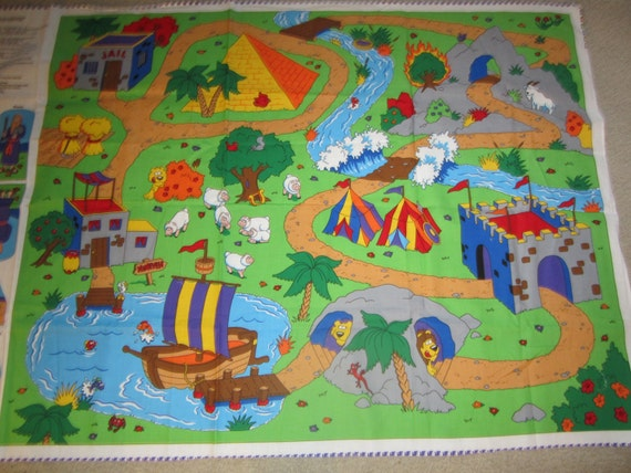 Beginners Bible Play Mat Fabric Panel With Characters