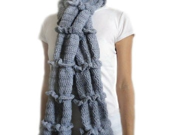 Ruched Ruffle Scarf - PDF Crochet Pattern - Instant Download
