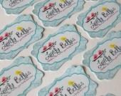 "100 Elegant Tags, Stickers, or Labels - 2.25' x 1.5"" - completely custom design item tag label sticker - bracket shape"