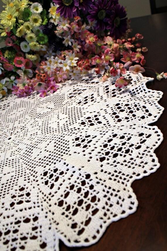 Round Butterfly  crochet Doily