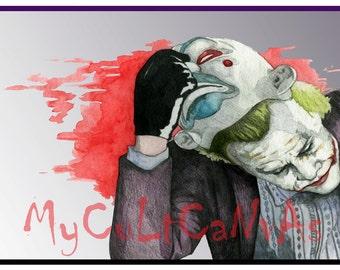 "Original ""I Believe Whatever Doesn't Kill You..."" Art print poster Batman Joker Dark Knight"