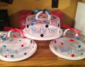 Personalized Cake Cupcake Pie Carrier Container