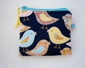 HALF PRICE SALE Birds Coin  Purse