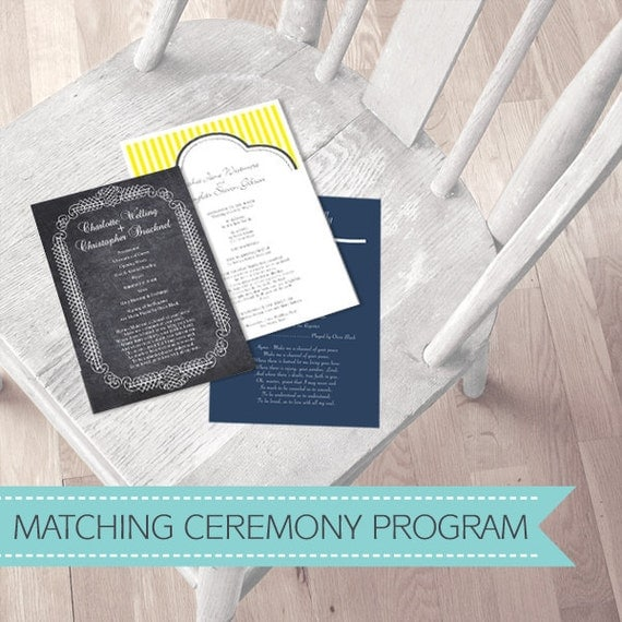 wedding program ORDER OF SERVICE to match any idoityourself design - printable file