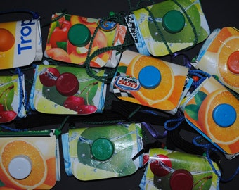 Juice Carton Coin Purses