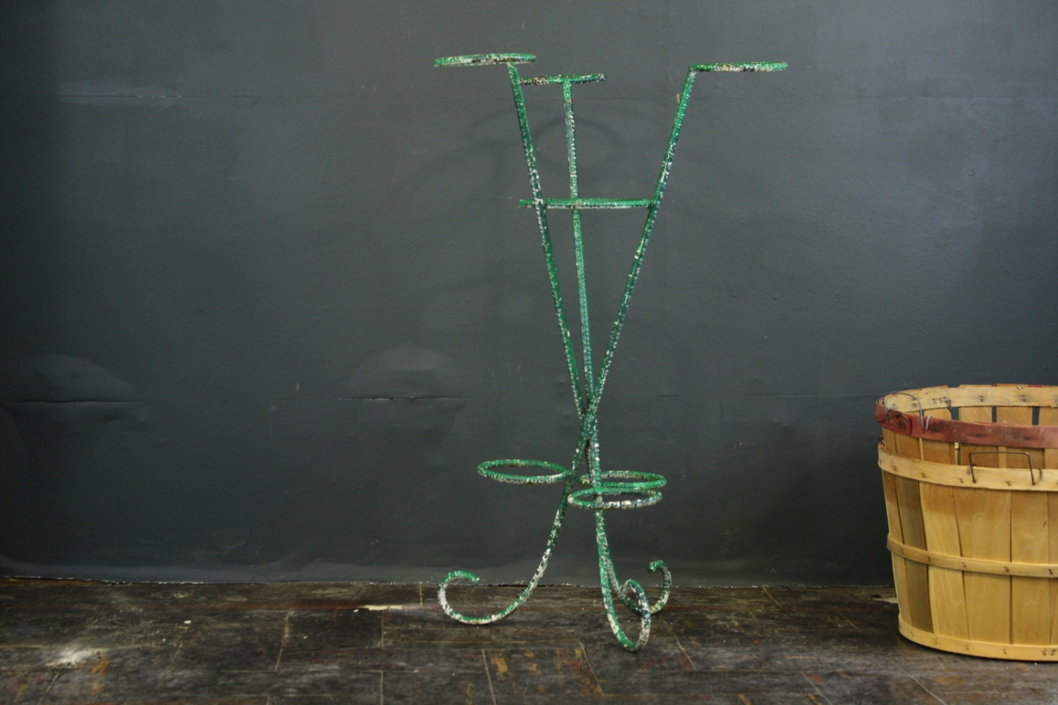 Plant stand vintage tiered iron plant stand - Tiered metal plant stand ...