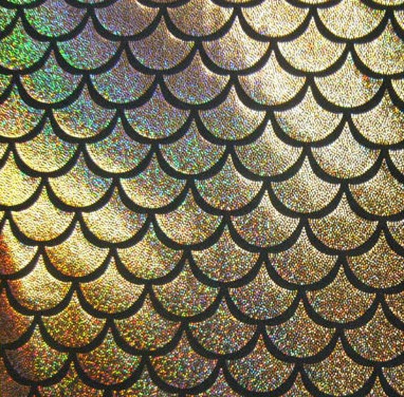 Items similar to gold large fish scale mystique lycra for Fish scale wallpaper