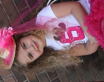GreatStitch Cowgirl Birthday Party Shirt 1st Birthday 2nd Birthday