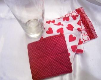 Coasters fabric Smitten set of 4
