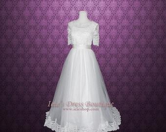 Modest Wedding Dress with Sleeves | Wedding Dress with Sleeves | Princess Wedding Dress | Emery Y130105
