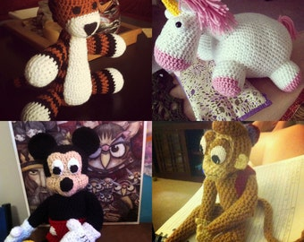 Custom Made Crocheted Doll