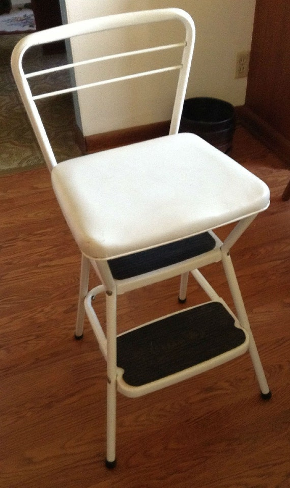 Vintage Cosco Lift Up Seat Step Stool Chair By Diantiques