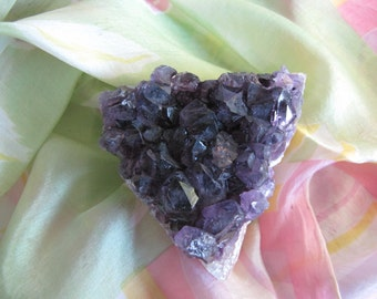 Natural Raw Amethyst Quartz Geode Uruguay Cluster Purple Color-Meditation Crystal-Reiki Healing Crystal