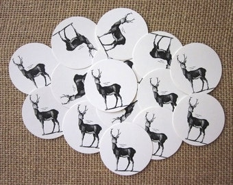 Deer Tags Round Paper Gift Tags Set of 10