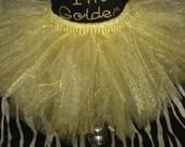 gold shimmer tutu on elastic waist-size girls 6-10