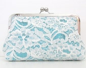 SILK AND LACE Clutch - silk lining - the Ulitmate Luxurious Bridal Clutch