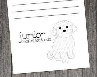 Maltese Personalized Notepads -- To Dog List Custom Breed