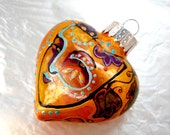 Carnival Face Ornament Hand Painted  Art on Glass Home Decor Decorative