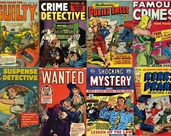DVD Golden Age CRIME DETECTIVE Comics (vol 2) Real Police Cases Murder Justice