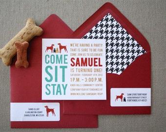 20 Dog Party Invitations