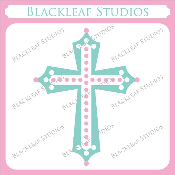 Baptism Cross Clip Art - More information