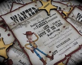 Toy Story WANTED Woody Invitations