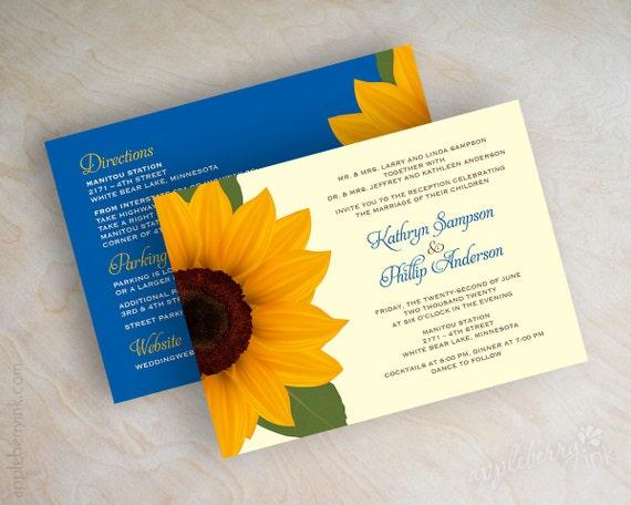 Wedding invitations sunflower wedding invitations sunflower – Sunflower Wedding Invites