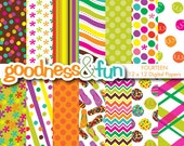 Buy 2, Get 1 FREE - Summer Whimsy Digital Papers - Digital Summer Paper Pack - Instant Download