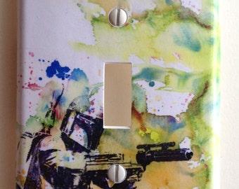 Boba Fett Star Wars Art Room Decor Decorative Light Switch Plate Cover