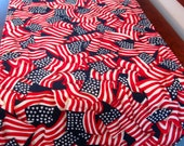 American Flag Table Runner 36 inch Reversible Red White and Blue Table Runner Blue Stars 4th of July table runner Stars and Stripes runner