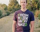 Keeping it real FOOD shirt- Mens-M.L.XL