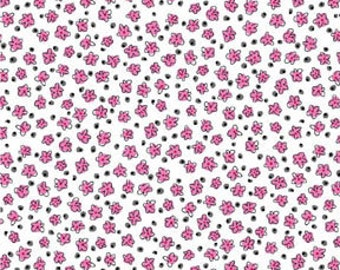 Glamour, Inc  by Michelle D'Amore for Benartex Cotton Fabric Pink Petite Belle  02265-22