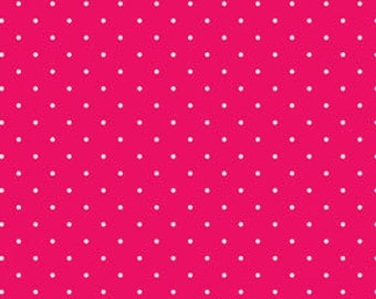 Red White Little Dot  by Michele D'Amore for Sweetie Pie by Benartex Cotton Fabric 3652-10