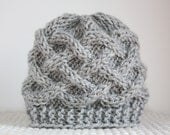 Knit Baby Hat / Baby Boy Hat / Newborn Baby Beanie / Baby Girl Hat / Photo Prop Hat Knit Baby Hat /  Infant Hat celtic knot