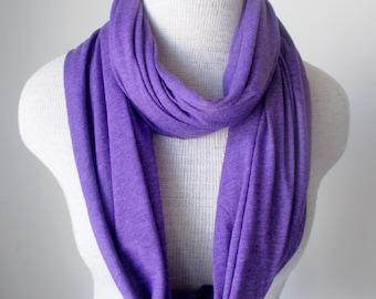 Purple Amethyst Jersey Knit Infinity Scarf