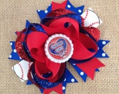 Chicago Cubs Hair Bow, MLB Baseball OTT, Perfect for Infants, Toddlers, Big Girls and Teens, Baby headbands, Sports, Infant Headband,