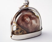 Mysterious Victorian Girls, Terrarium Locket Necklace, Mini Curio Display with Vintage Photos