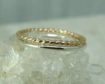 Gold Stacking Ring / Gold Stacked Ring / Gold Filled Ring / Thumb Ring / Stackable Ring