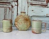 Frankoma Pottery - Canteen - Vintage - Ceramic - Thunderbird