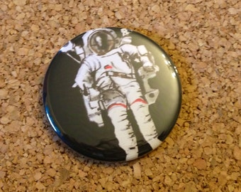 Astronaut in Space NASA Pop Art 1 1/2 inch pin button