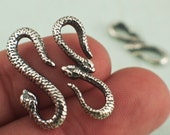 Snake Hook Clasp - Sterling Silver - Made in the USA - 22 mm
