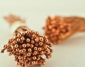 100 Solid Copper Ball Head Pins - 22 gauge - 2 inches - 1.5mm Ball - Raw or Custom Oxidized - 100% Guarantee