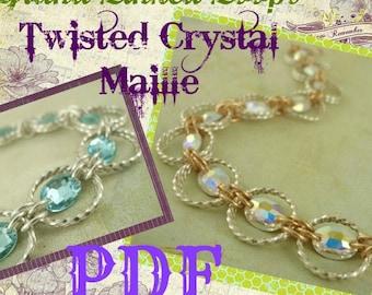 Grand Linked Loops Twisted Crystal Maille Bracelet PDF