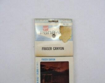Fraser Canyon slides souvenir, vintage slides, vintage souvenir slides