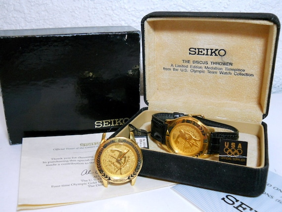 "Seiko Limited Edition 1992 Barcelona Olympic Wrist Watch ""Discus Thrower"" NIB"