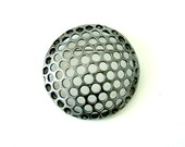 Industrial Steel Brooch/Pin: Perforated