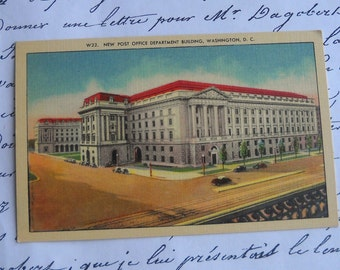 Vintage -The Post Office Department Building, Washington D.C. - Postcard