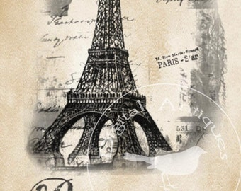 Paris Quotation Tags Collage Sheet Instant Digital Download