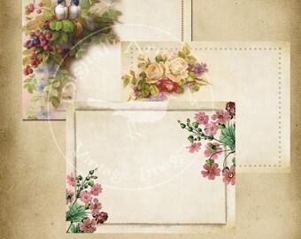 Spring Vintage Journal Spots Instant Digital Download